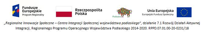 Logo UE, Polski, woj. podlaskiego, Funduszy europejskich